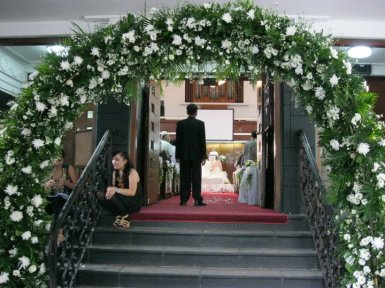 wedding gate pernikahan Inge & Ronald