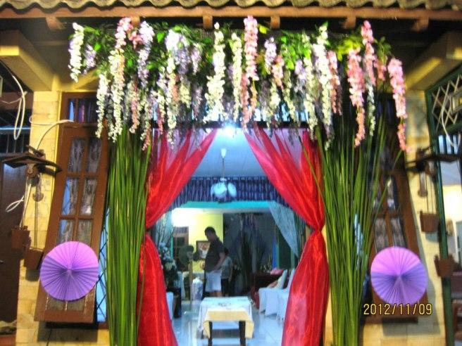 dekorasi pernikahan di rumah grace decoration